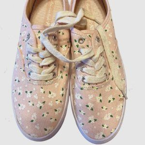 AMERICAN EAGLE Pink Floral Sneakers - Size 5.5